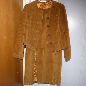 Vintage, Handmade Corduroy Dress Suit